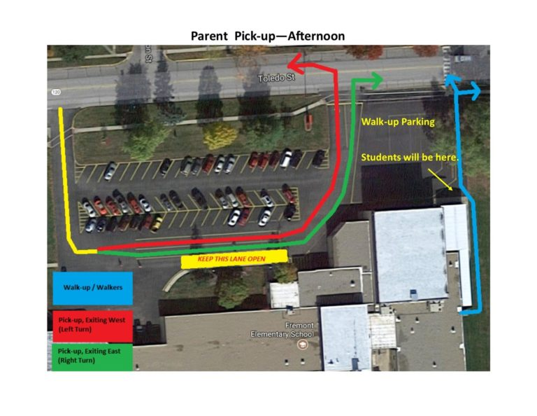 Parent Pick up Map